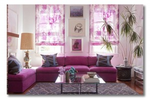 Home Design with Radiant Orchid Color of the Year