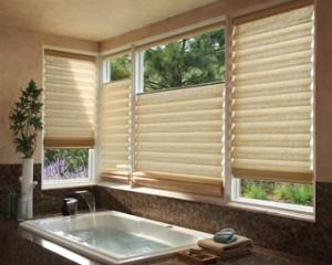 Bathroom Window Coverings - Hunter Douglas Roman Shades