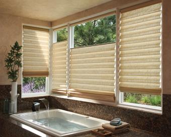 Bathroom Window Coverings  Roman Shades