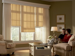 Hunter Douglas Designer Roller Shades with Custom Cornice